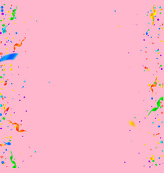 Streamers and confetti colorful tinsel and foil r vector