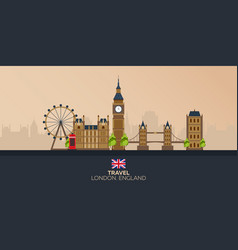 trip to london vacation road trip tourism vector image