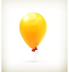 Yellow toy balloon vector