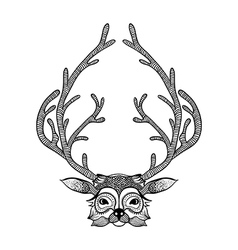 Zentangle stylized deer Hand Drawn Sketch for vector