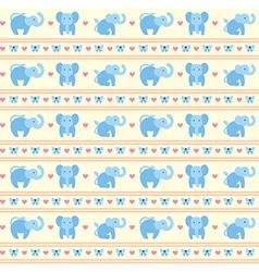 Elephant Blue Fun Pattern vector image vector image
