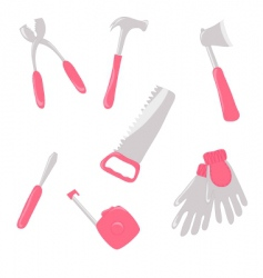 girlish tools vector image