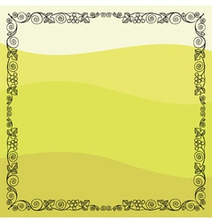 Grape vine frame vector image