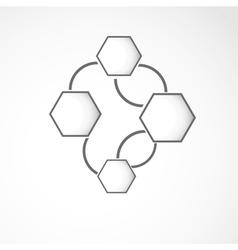 Hexagon web design vector image vector image