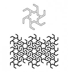 seamless star motif vector image vector image