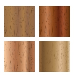 Set of wooden textures vector image