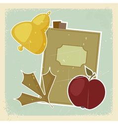 Vintage school postcard vector image vector image