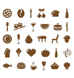 Collection Restaurant Icons vector image