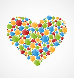 Heart of colorful bubbles vector image vector image
