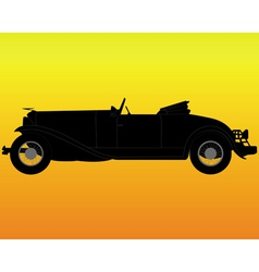 old convertible car vector image vector image