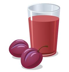 plums juice vector image