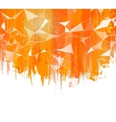 Splashes Orange Background Creative abstract vector image vector image