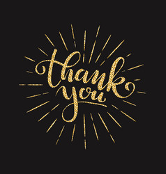 thank you lettering for greeting card vector image vector image