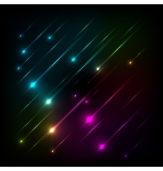 Abstract colorful glow background vector image