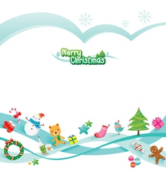 Christmas Ornaments Decoration Card vector image