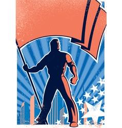 flag bearer poster 2 vector image vector image