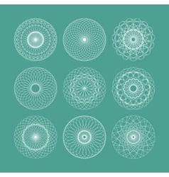 Guilloche Set vector image vector image