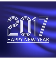 happy new year 2017 on dark blue abstract color vector image vector image
