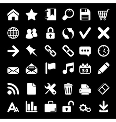 Icons For Web and Mobile on black background vector image