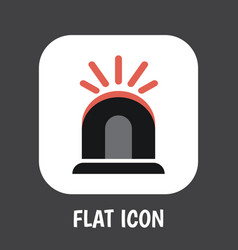 of safety symbol on siren flat vector image vector image