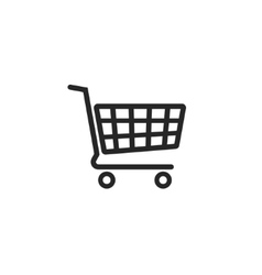 Shopping cart icon supermarket trolley vector image vector image