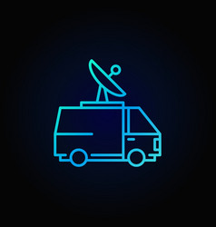 broadcasting van colorful icon vector image