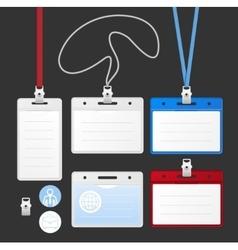 Id Card Set vector image