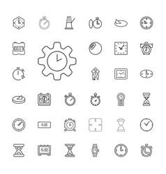 33 clock icons vector