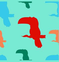 a seamless pattern of toucan birds vector image