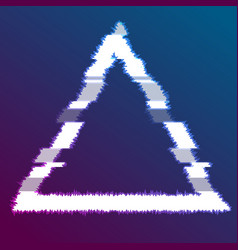 Abstract glitch effect luminous triangle vector