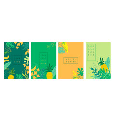 Abstract tropical backgrounds summer banners vector