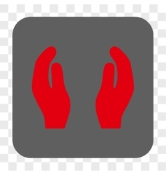 Applause Hands Rounded Square Button vector image
