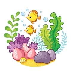 artoon underwater life vector image