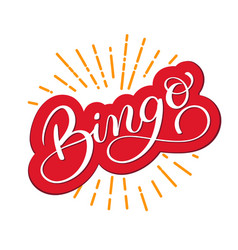 bingo word beautiful greeting card scratched vector image