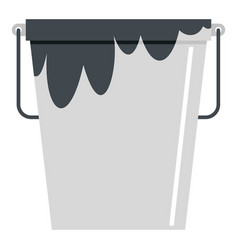 Bitumen emulsion in grey bucket icon isolated vector