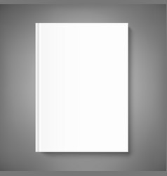 Blank book cover template on grey background vector