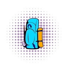 Blue cartoon icon comics style vector image