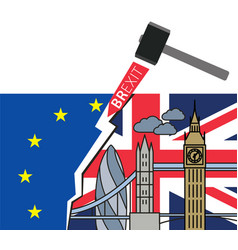 brexit great britain leaving eu vector image