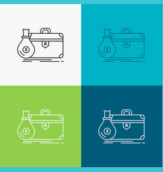 briefcase business case open portfolio icon over vector image