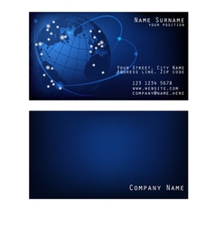 Business card space with Earth vector