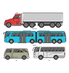car body style outline public transport and vector image