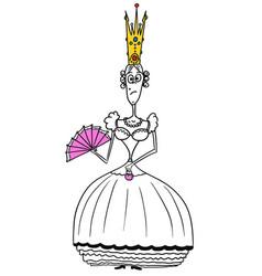 cartoon medieval fantasy queen vector image