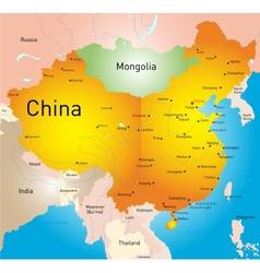 China country vector image