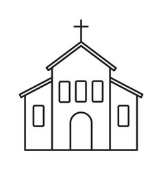 church line icon vector image