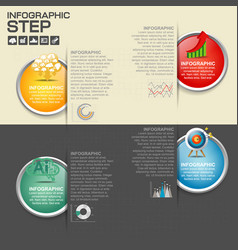 Circle business concepts with icons can use vector
