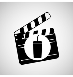clapper movie and megaphone retro graphic vector image