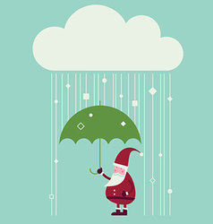 cloud christmas vector image