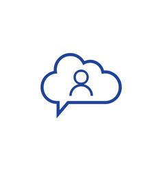 Cloud user icon computing concept vector