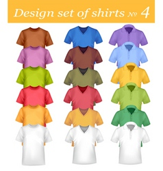colored and white shirts vector image