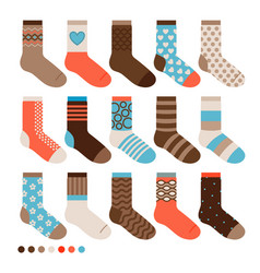Colorful pastel cute socks vector